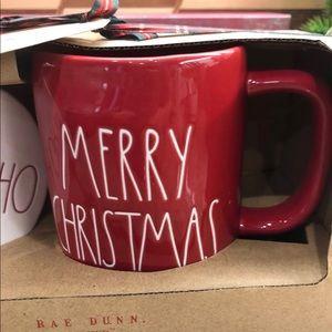 MERRY CHRISTMAS Rae Dunn Coffee Mug & Coaster Set
